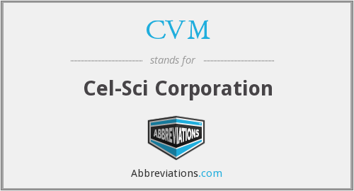 CVM - Cel-Sci Corporation