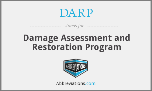 DARP - Damage Assessment and Restoration Program