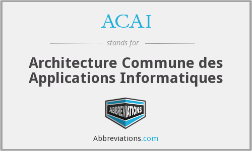 ACAI - Architecture Commune des Applications Informatiques