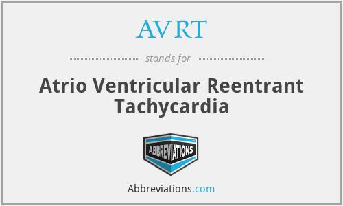 AVRT - Atrio Ventricular Reentrant Tachycardia