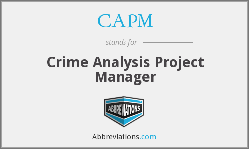 CAPM - Crime Analysis Project Manager
