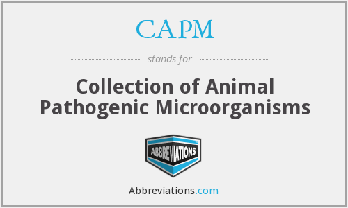 CAPM - Collection of Animal Pathogenic Microorganisms