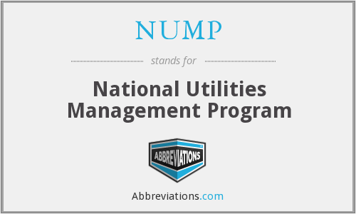 NUMP - National Utilities Management Program