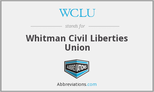 WCLU - Whitman Civil Liberties Union