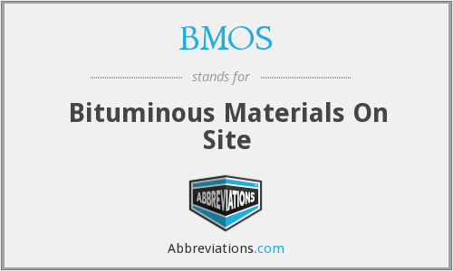 BMOS - Bituminous Materials On Site