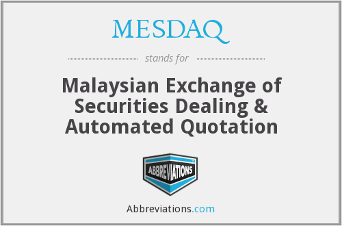 What does MESDAQ stand for?