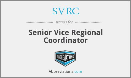 SVRC - Senior Vice Regional Coordinator