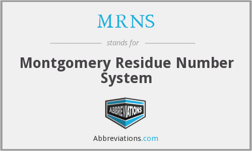 MRNS - Montgomery Residue Number System