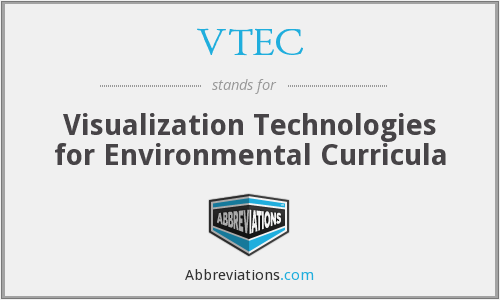VTEC - Visualization Technologies for Environmental Curricula