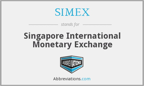 What does SIMEX stand for?
