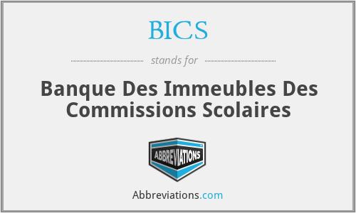 BICS - Banque Des Immeubles Des Commissions Scolaires