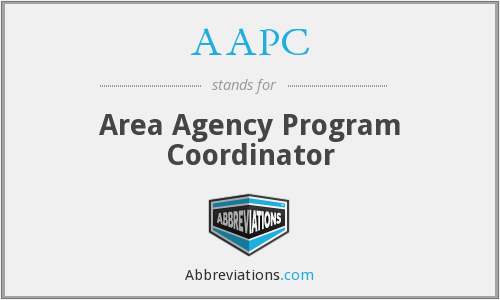 AAPC - Area Agency Program Coordinator