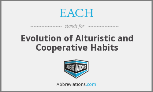 EACH - Evolution of Alturistic and Cooperative Habits