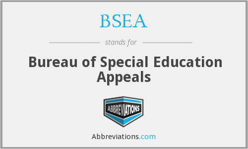 BSEA - Bureau of Special Education Appeals