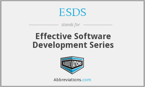 ESDS - Effective Software Development Series