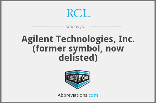 RCL - Agilent Technologies, Inc. (former symbol, now delisted)