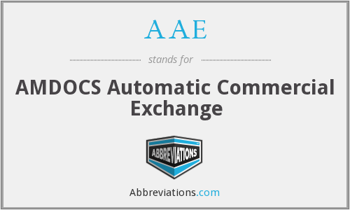 AAE - AMDOCS Automatic Commercial Exchange