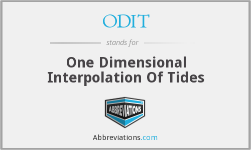 ODIT - One Dimensional Interpolation Of Tides