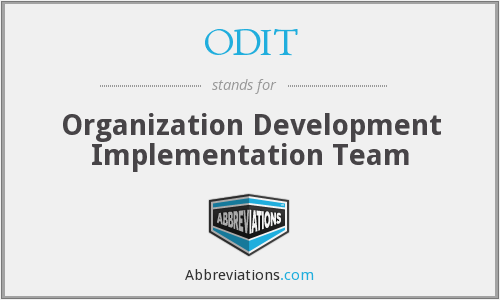 ODIT - Organization Development Implementation Team