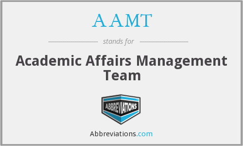 AAMT - Academic Affairs Management Team