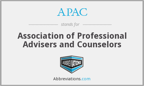 APAC - Association of Professional Advisers and Counselors