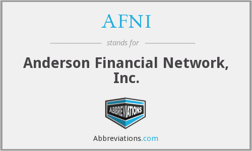 AFNI - Anderson Financial Network, Inc.