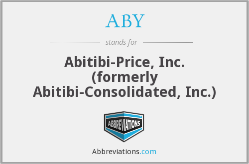 ABY - Abitibi-Price, Inc. (formerly Abitibi-Consolidated, Inc.)