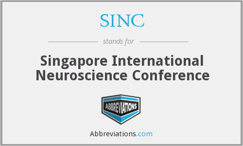 SINC - Singapore International Neuroscience Conference