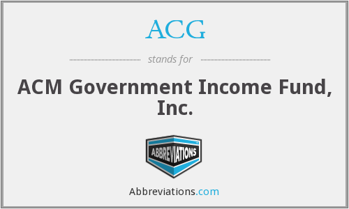 ACG - ACM Government Income Fund, Inc.
