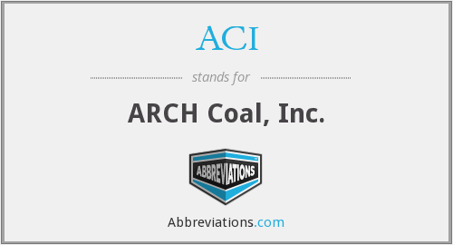 What does ACI stand for?