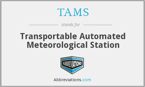 TAMS - Transportable Automated Meteorological Station
