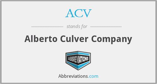 ACV - Alberto Culver Company