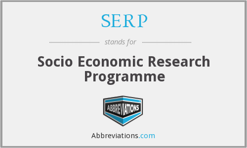 SERP - Socio Economic Research Programme