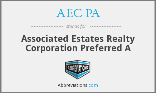 AEC PA - Associated Estates Realty Corporation Preferred A