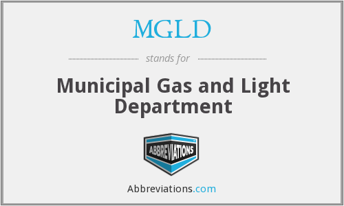 MGLD - Municipal Gas and Light Department
