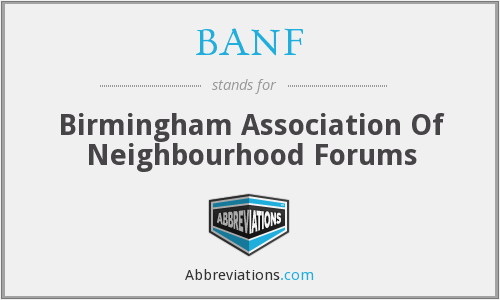 BANF - Birmingham Association Of Neighbourhood Forums