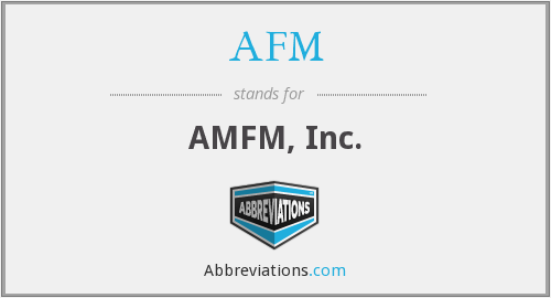 AFM - AMFM, Inc.