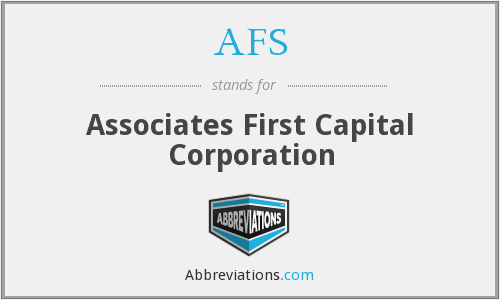 AFS - Associates First Capital Corporation