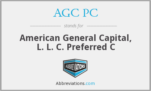What does AGC PC stand for?
