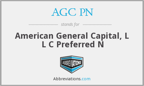 AGC PN - American General Capital, L L C Preferred N