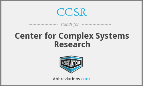 CCSR - Center for Complex Systems Research