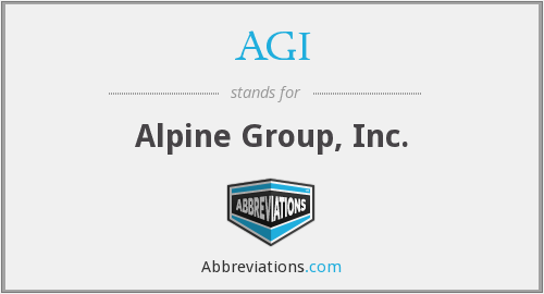 AGI - Alpine Group, Inc.