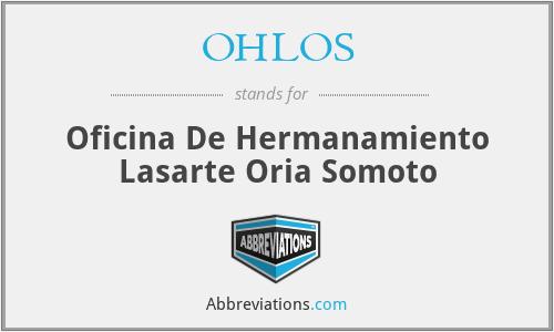 OHLOS - Oficina De Hermanamiento Lasarte Oria Somoto