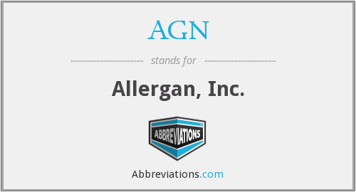 AGN - Allergan, Inc.