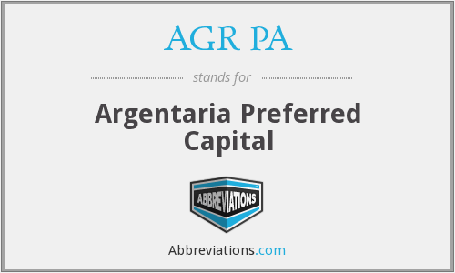 What does AGR PA stand for?