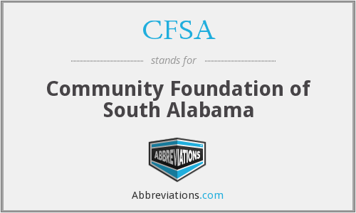 CFSA - Community Foundation of South Alabama