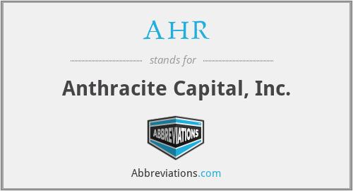 AHR - Anthracite Capital, Inc.