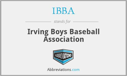 IBBA - Irving Boys Baseball Association