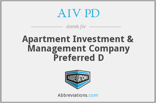 AIV PD - Apartment Investment & Management Company Preferred D