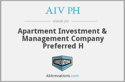 AIV PH - Apartment Investment & Management Company Preferred H